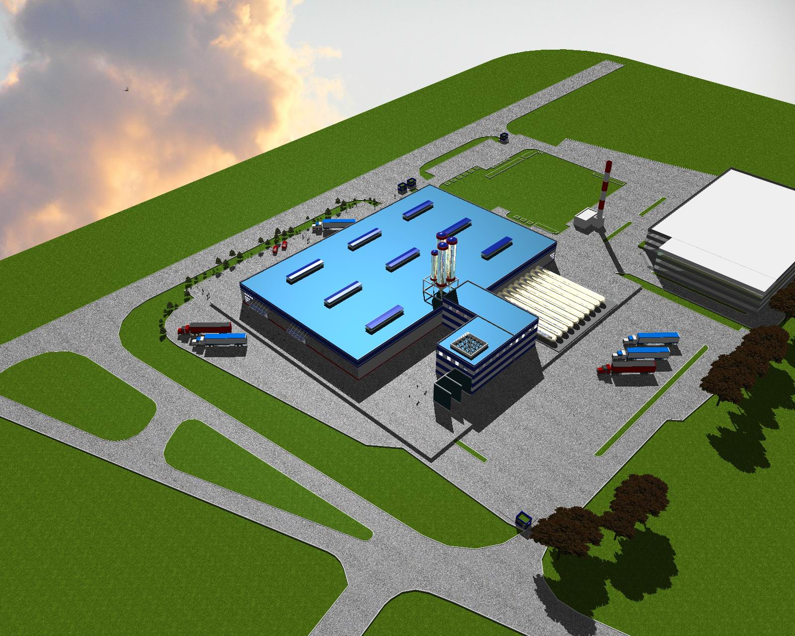 Проектирование производственного здания (завода)