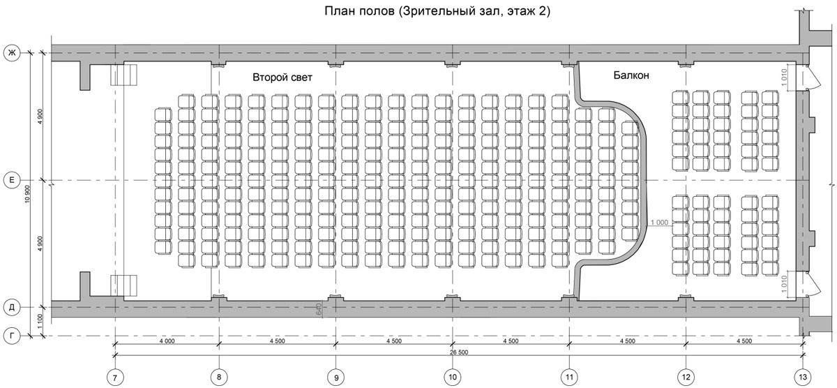 Театр. Зрительный зал - 2 этаж