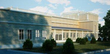 Проектирование театра / Дома Культуры. Общий вид здания